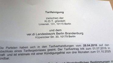 Tarifabschluss Ki.D.T. GmbH