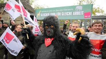 Warnstreik in Zoo und Tierpark